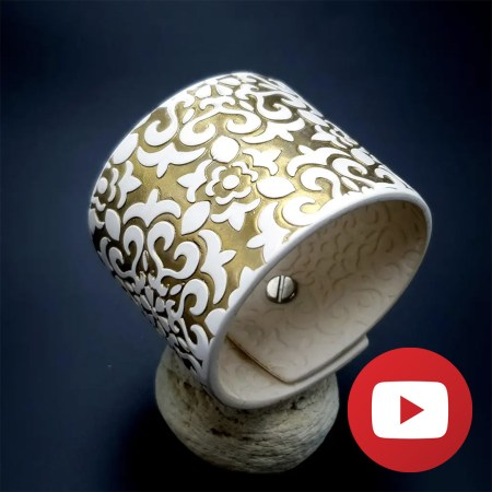 How to make polymer clay white gold bracelet