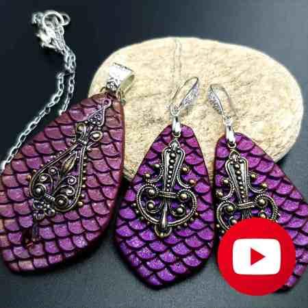 How to make polymer clay mermaid jewelry set