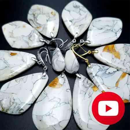 Faux marble earrings
