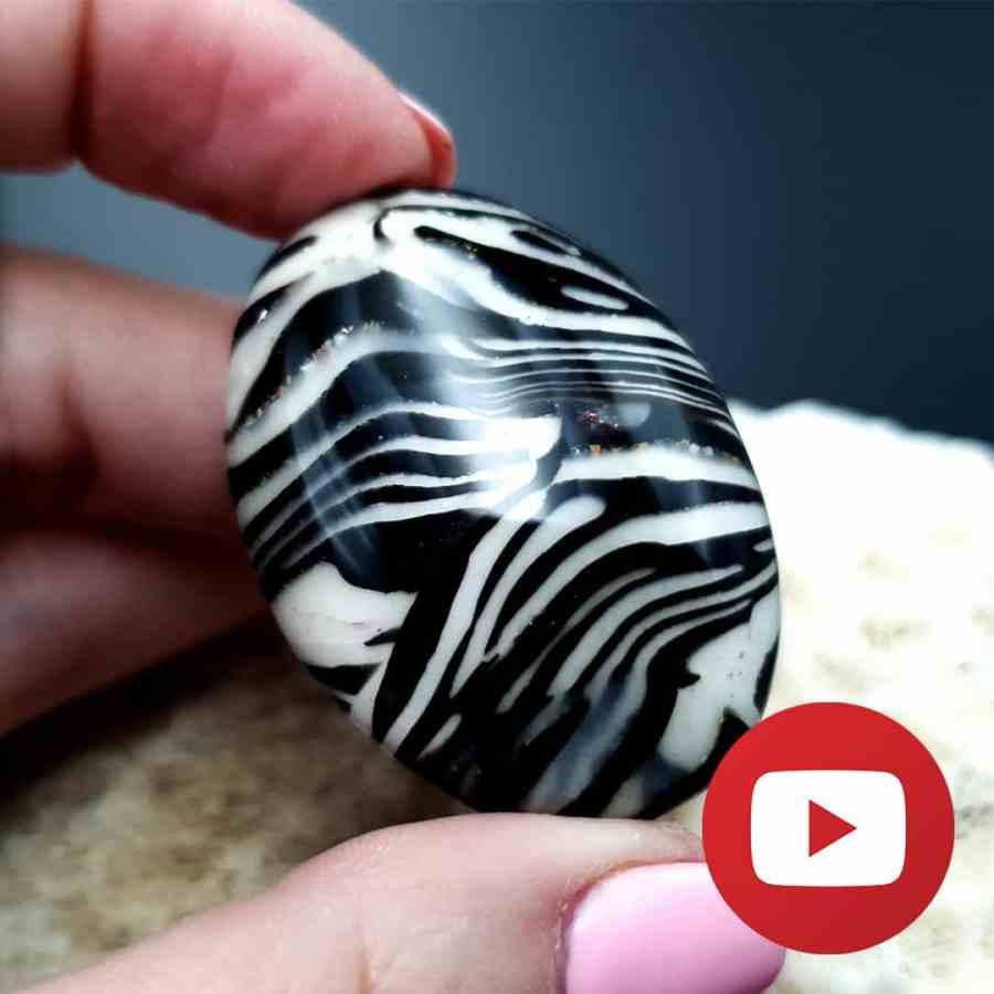 How to make faux zebra jasper stone