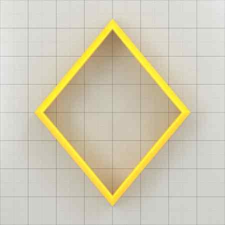 Big set of 11 plastic cutters: DIAMOND 6:5