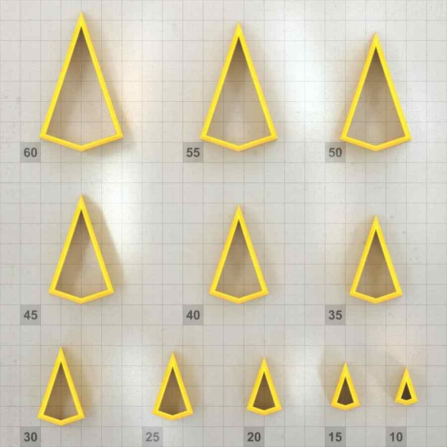 Big set of 11 plastic cutters: KITE #2