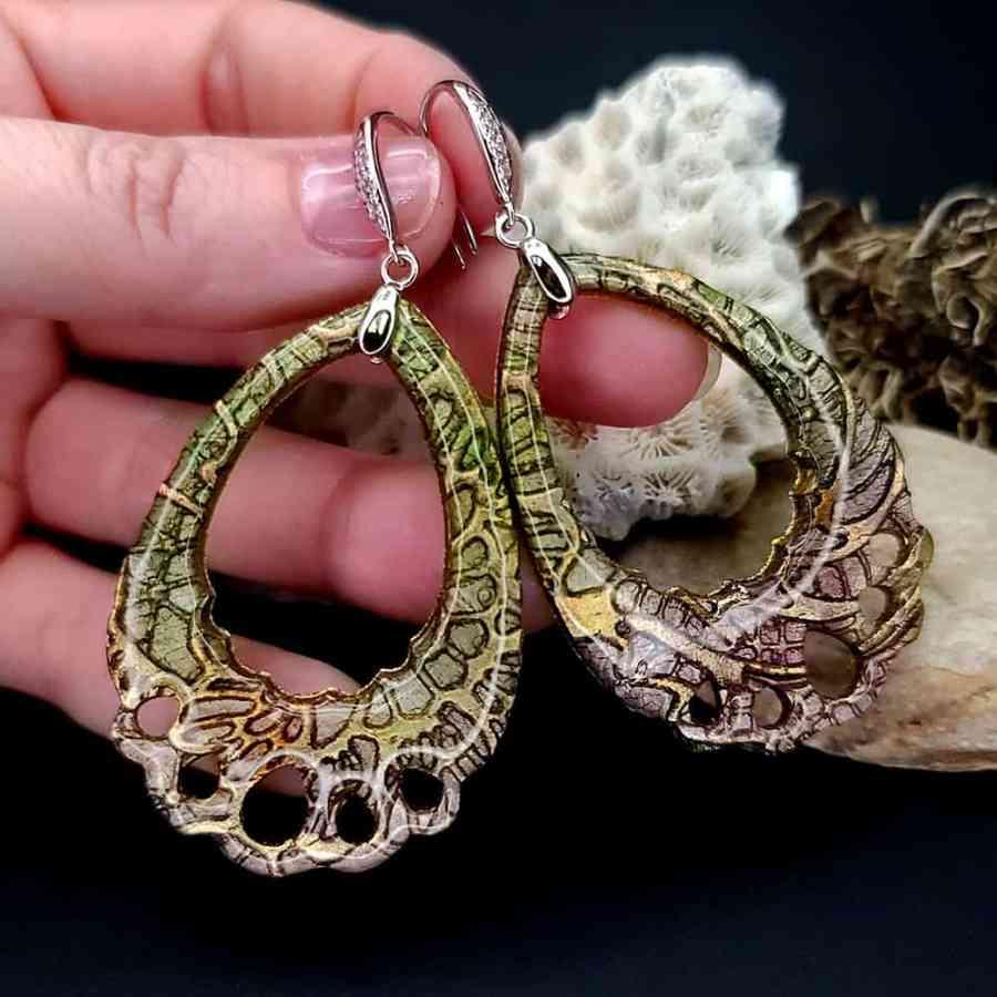"Romantic Earrings ""Tender Lace"""