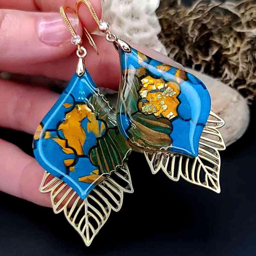 Romantic Earrings - Moroccan Mosaic - 1
