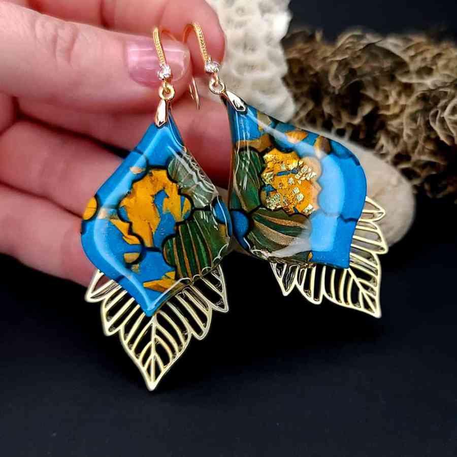 Romantic Earrings - Moroccan Mosaic - 2
