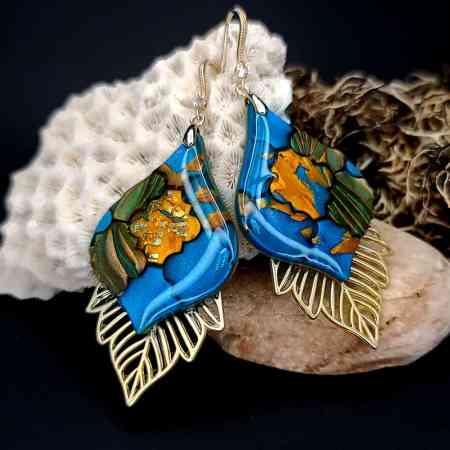 "Romantic Earrings ""Moroccan Mosaic"""