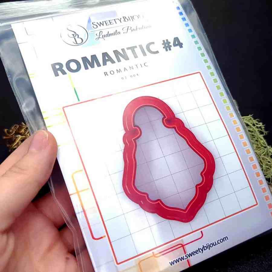 Set of 5 cutters: ROMANTIC#4