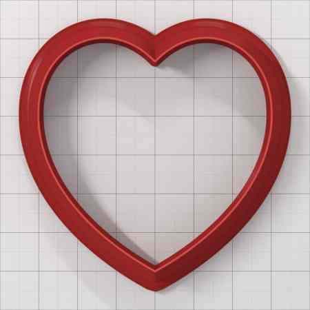Set of 5 cutters: HEART#3