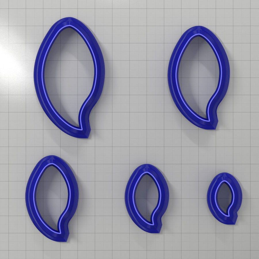 Set of 5 cutters: DROPS#12 Right