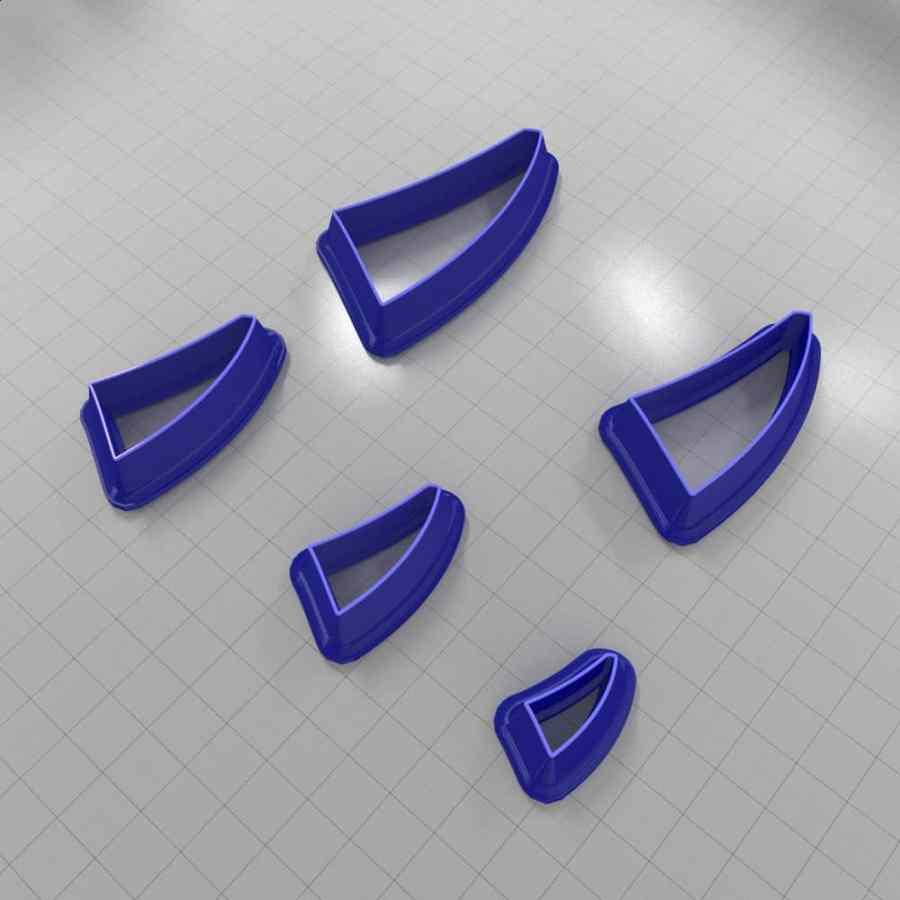 Set of 5 cutters: DROPS#23 Left