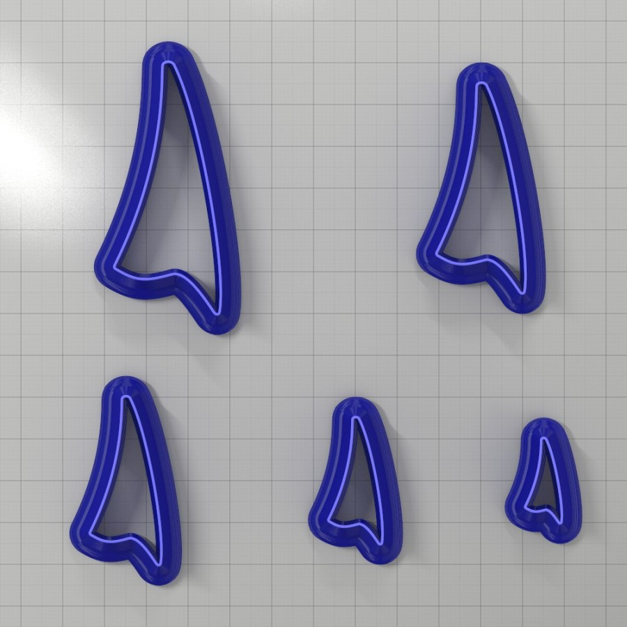 Set of 5 cutters: DROPS#24 Left