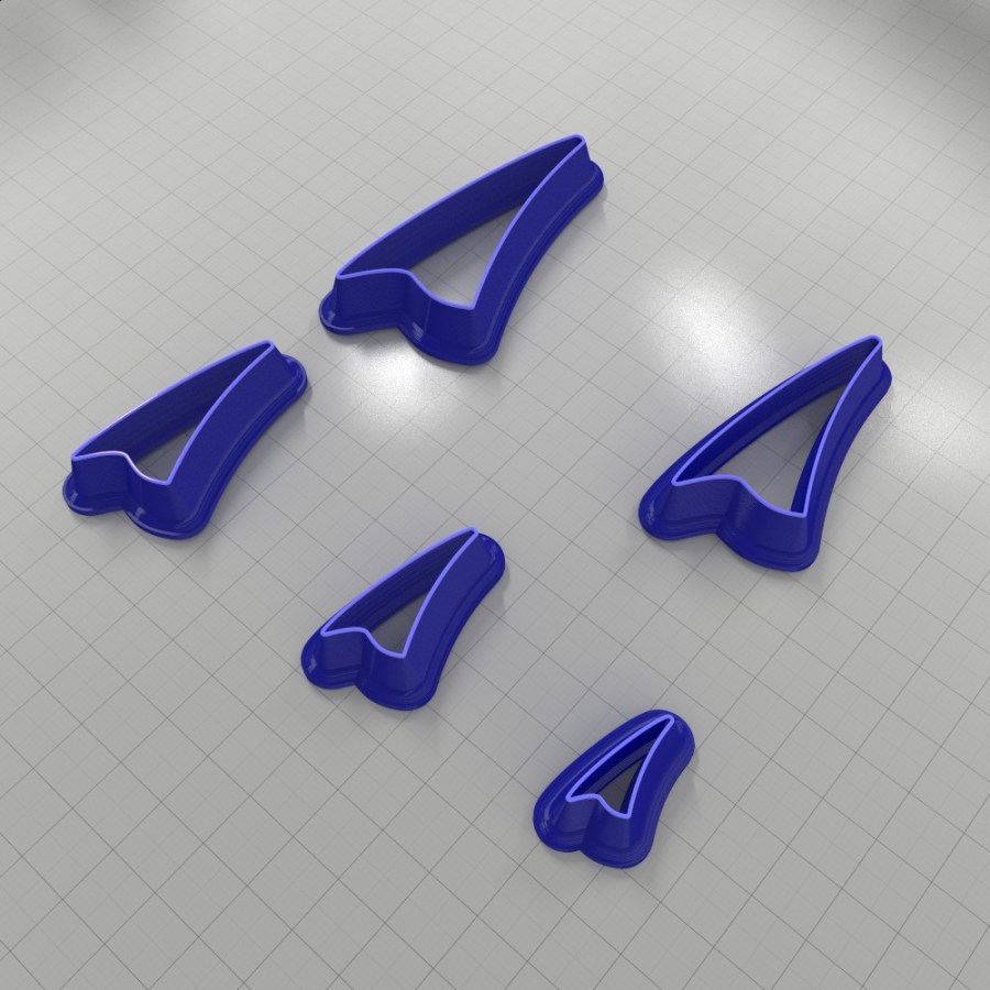 Set of 5 cutters: DROPS#24 Right