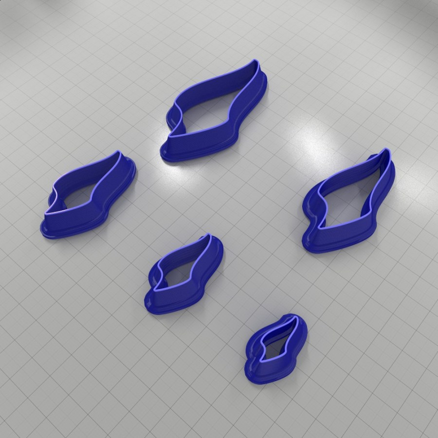 Set of 5 cutters: DROPS#26 Left