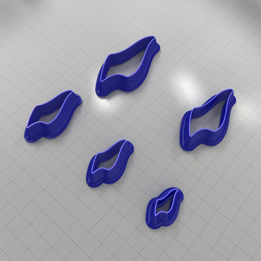 Set of 5 cutters: DROPS#26 Right
