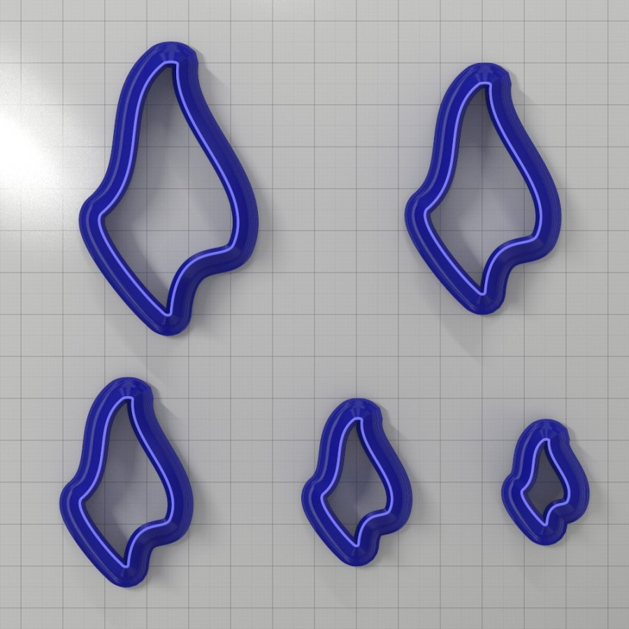 Set of 5 cutters: DROPS#27 Right