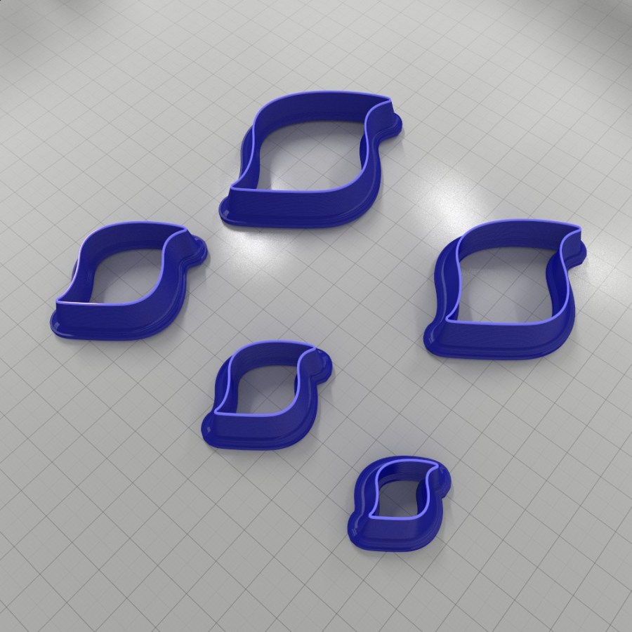 Set of 5 cutters: DROPS#42 Right