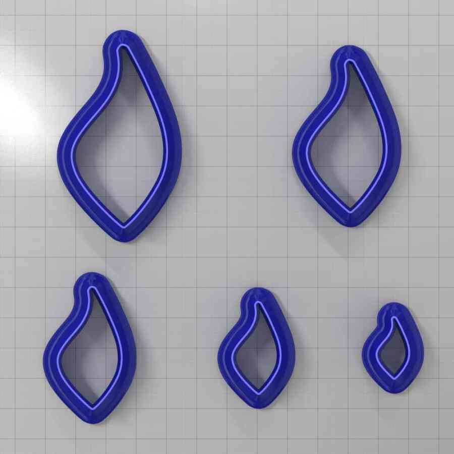 Set of 5 cutters: DROPS#45 Left