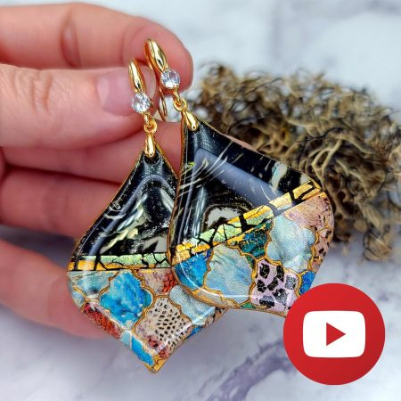 Moroccan Style Earrings with unique tools