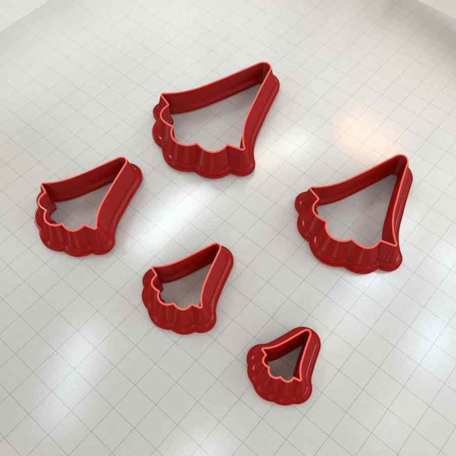 Set of 5 cutters: ROMANTIC#11