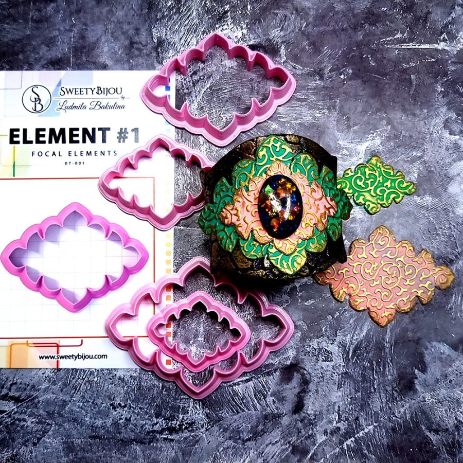 Set of 4 cutters - Focal Element #1 - 3,4,5,6cm