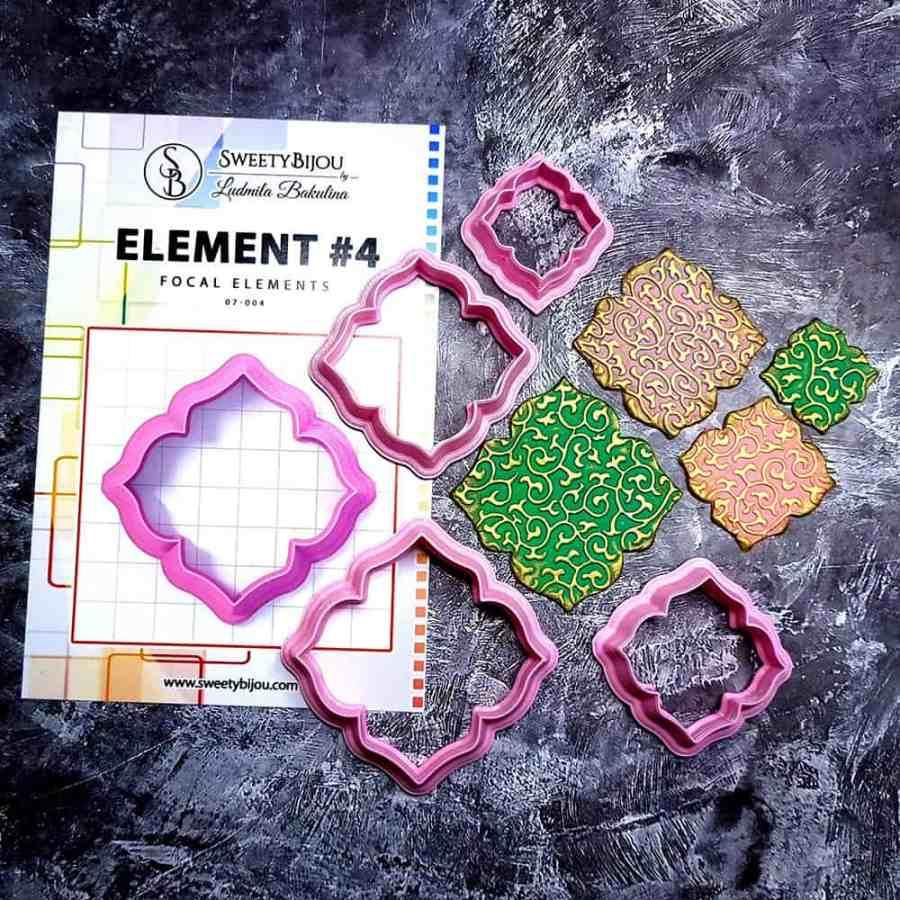 Set of 4 cutters - Focal Element #4 - 3,4,5,6cm