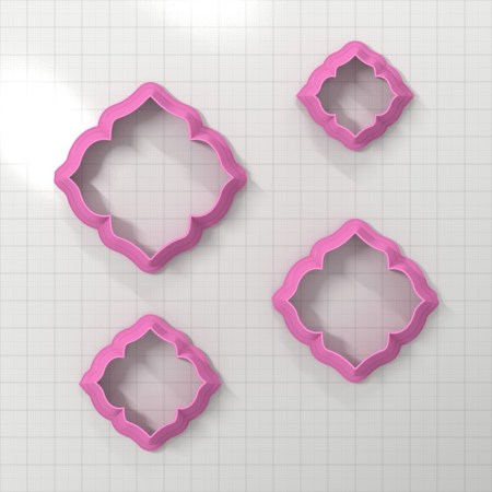 Set of 4 cutters – Focal Element #4 – 3,4,5,6cm