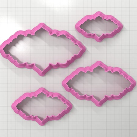 Set of 4 cutters – Focal Element #6 – 3,4,5,6cm
