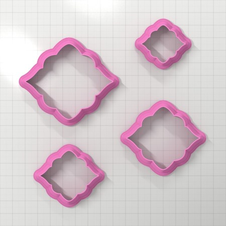 Set of 4 cutters – Focal Element #8 – 3,4,5,6cm