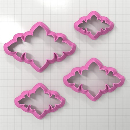 Set of 4 cutters – Focal Element #11 – 3,4,5,6cm