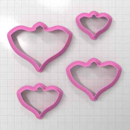 Set of 4 cutters – Focal Element #16 – 3,4,5,6cm