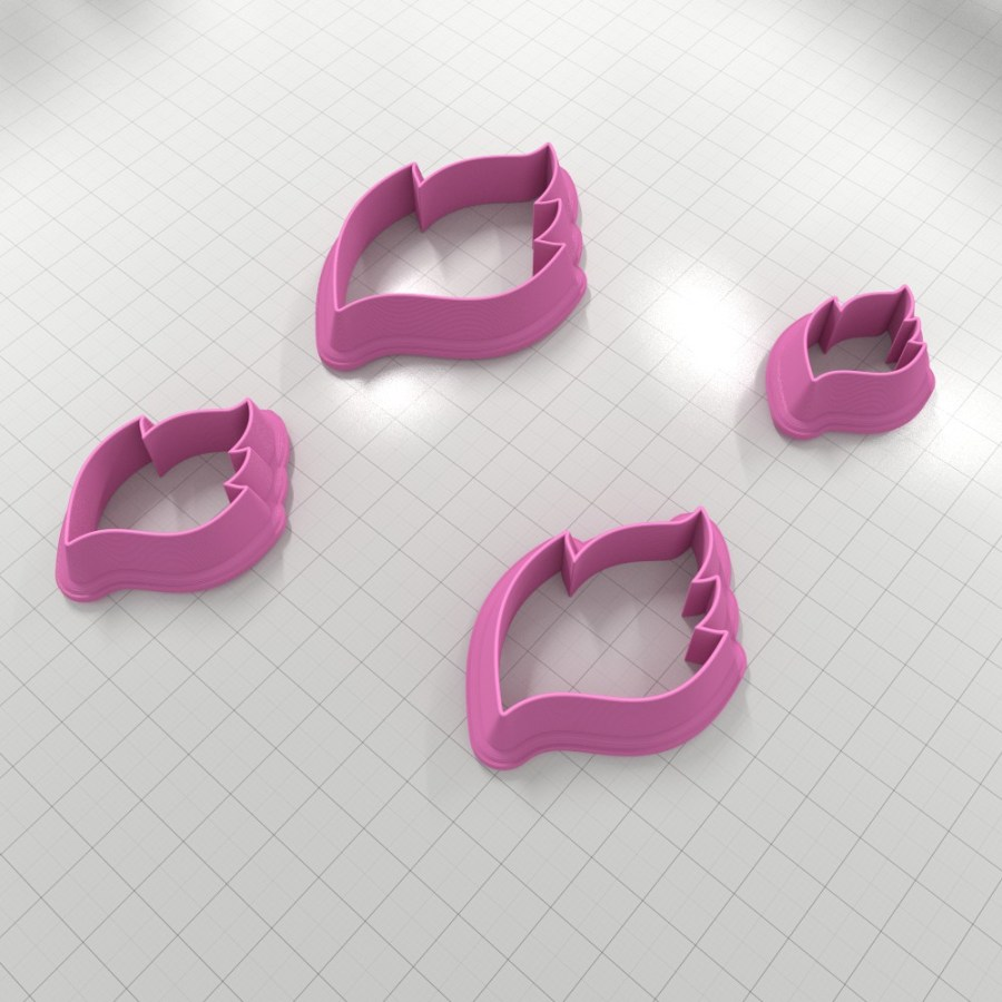 Set of 4 cutters – Focal Element #27 Right – 3,4,5,6cm