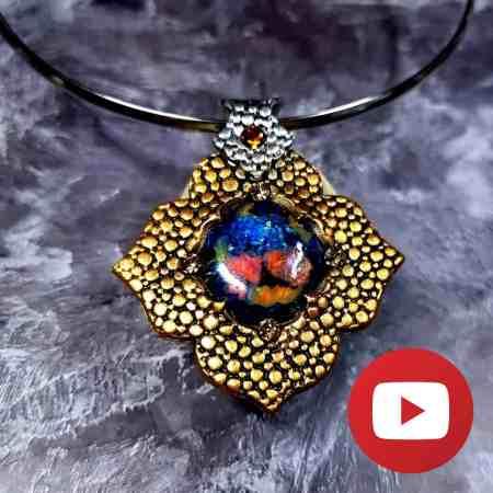 Golden Flower Unique Pendant