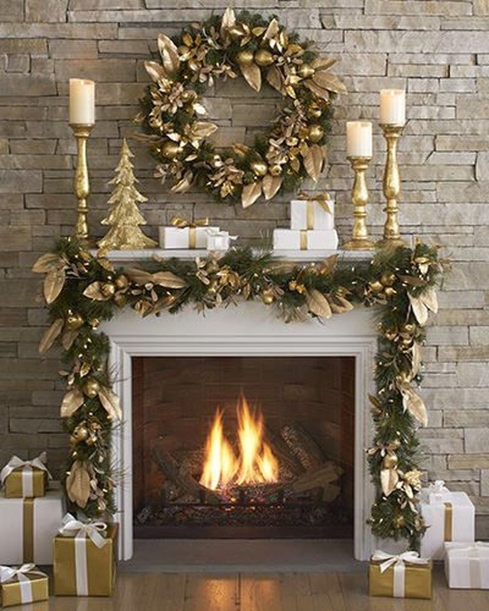 The Best Christmas Fireplace Decoration For Any Home Model 12