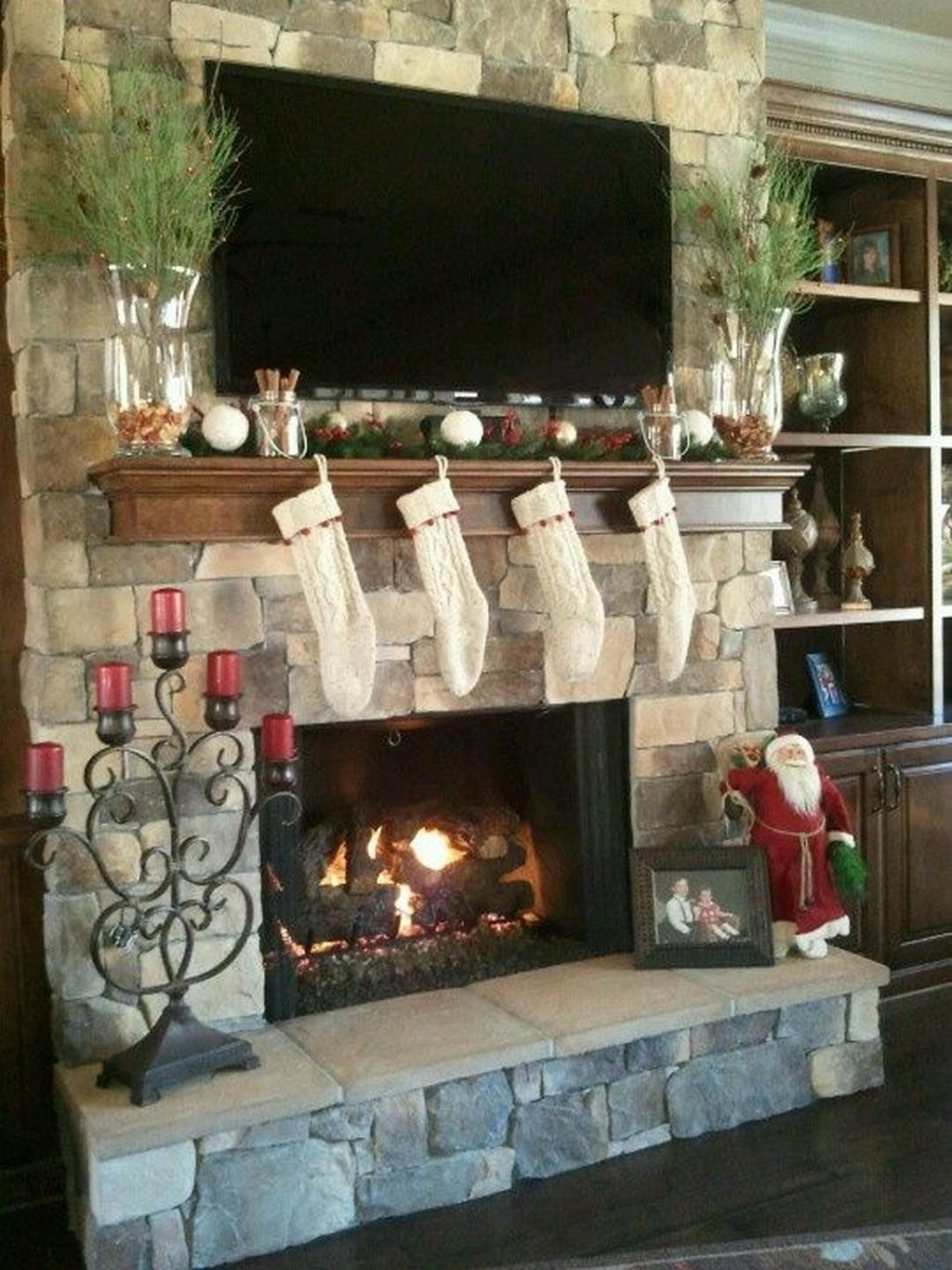 The Best Christmas Fireplace Decoration For Any Home Model 37