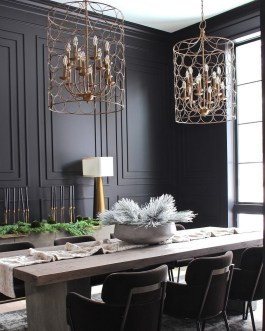 Beautiful Christmas Dining Room Decor Ideas Should You Apply This Winter 40