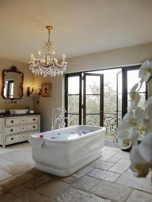 Beautiful Romantic Bathroom Decorations 13
