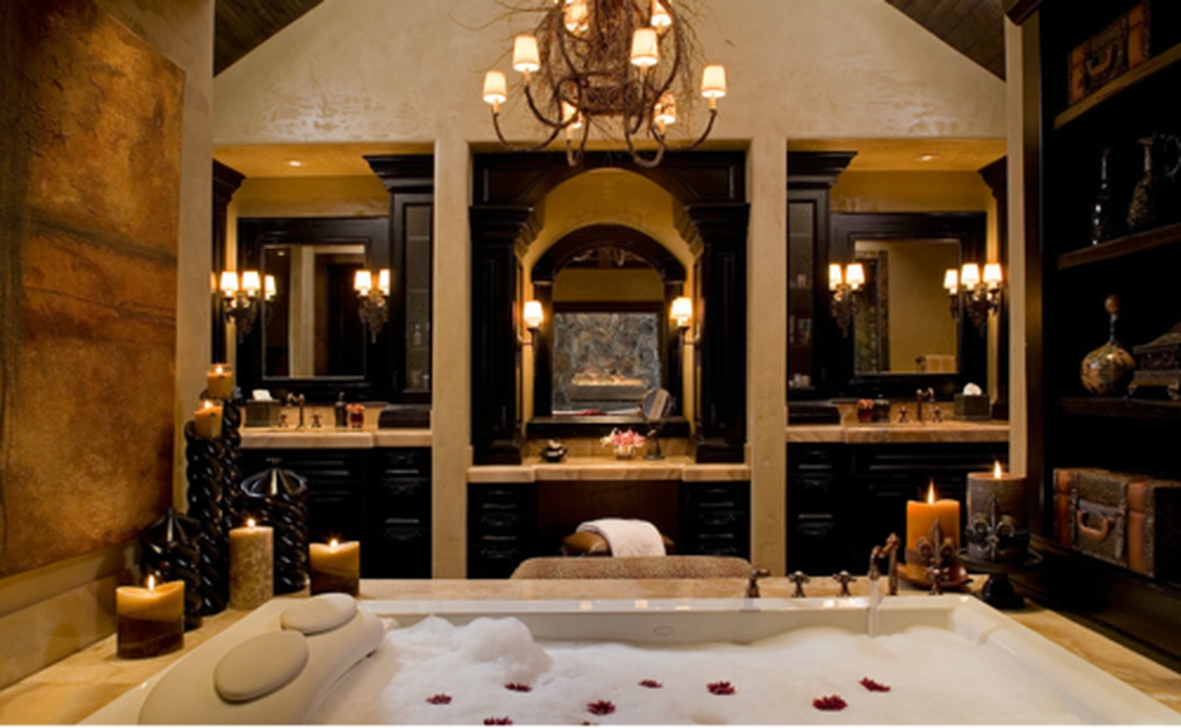 Beautiful Romantic Bathroom Decorations 41