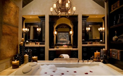 Beautiful Romantic Bathroom Decorations 41