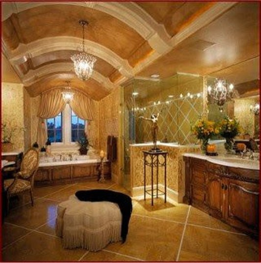 Beautiful Romantic Bathroom Decorations 45