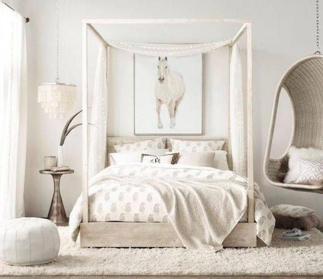 Beautiful White Bedroom Design Ideas 07