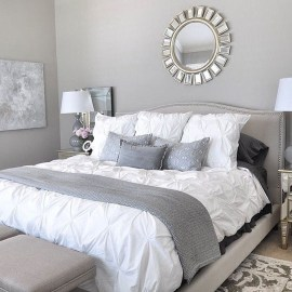 Beautiful White Bedroom Design Ideas 43
