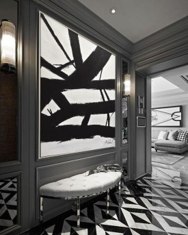 Modern Minimalist House Design In Black And White Color Scheme 41