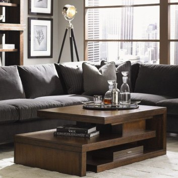 Popular Modern Coffee Table Ideas For Living Room 14