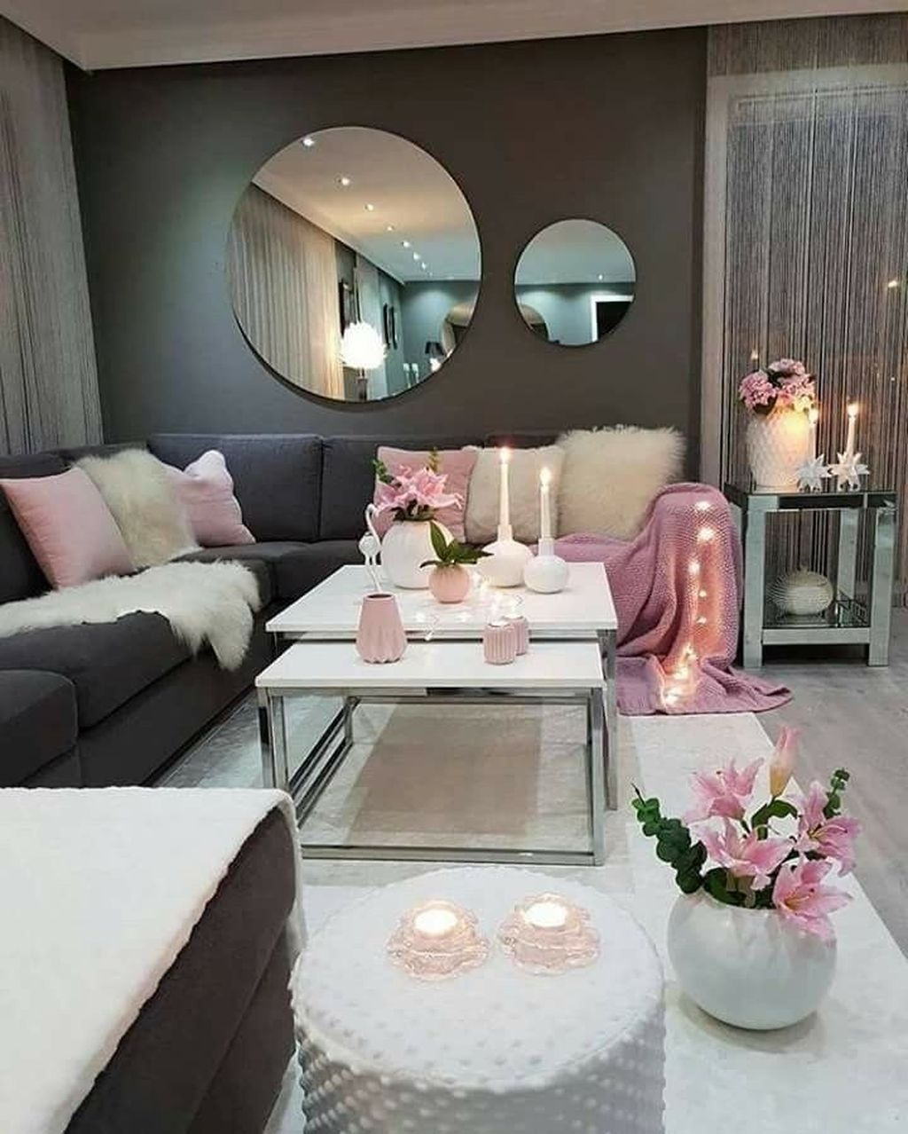 Stunning Romantic Living Room Decor 37