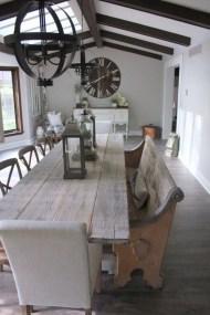 Amazing Rustic Dining Room Design Ideas 20
