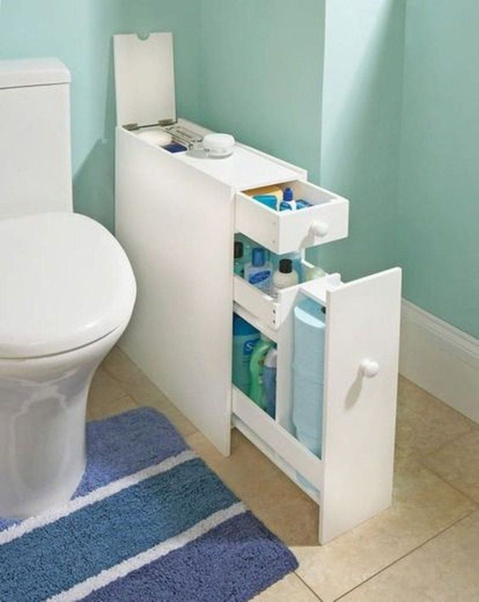 Awesome Hanging Bathroom Storage For Small Spaces 34