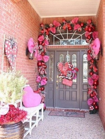 Front Porch Valentines Day Decor With LOVE Word 30