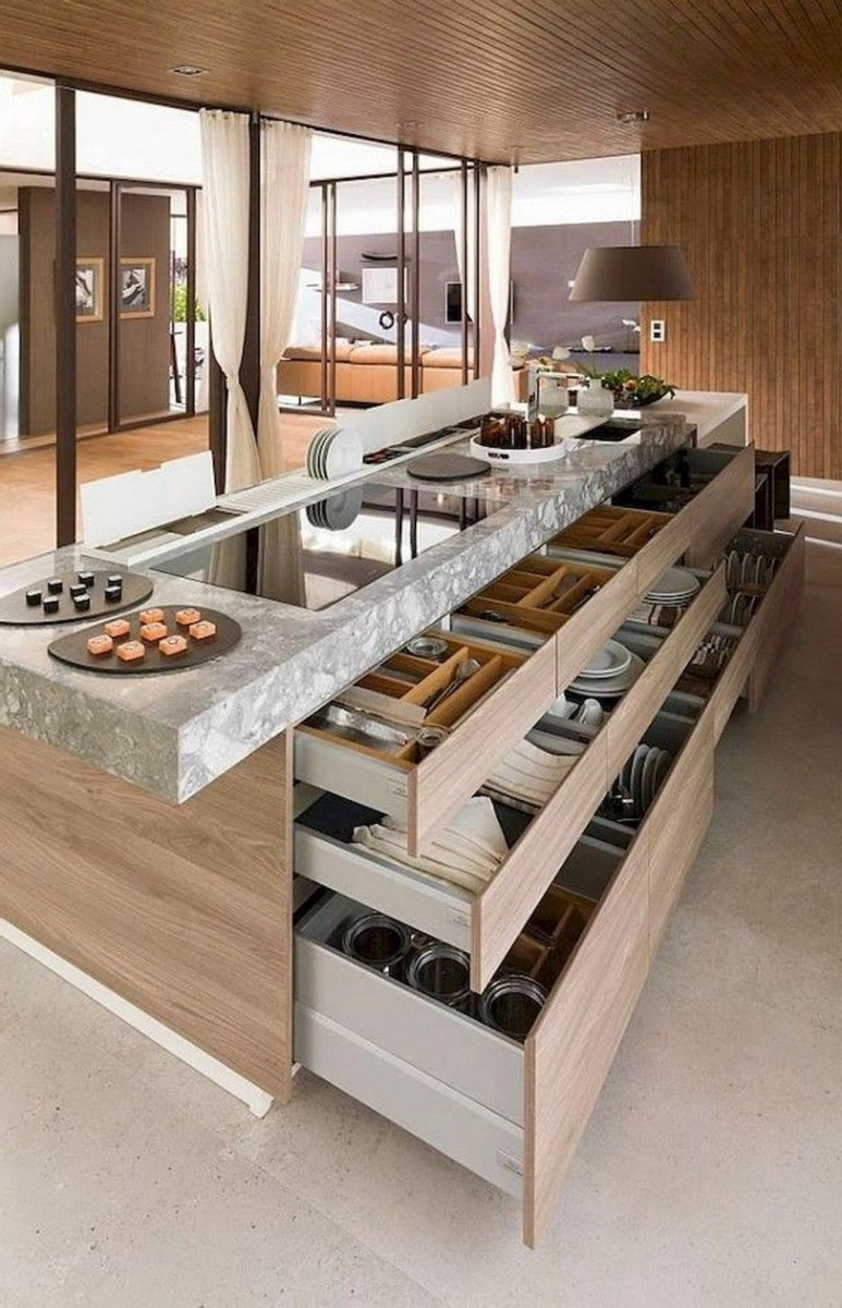 Kitchen Island Design Ideas With Marble Countertops 02