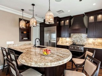 Kitchen Island Design Ideas With Marble Countertops 22