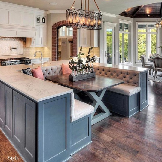 Kitchen Island Design Ideas With Marble Countertops 37